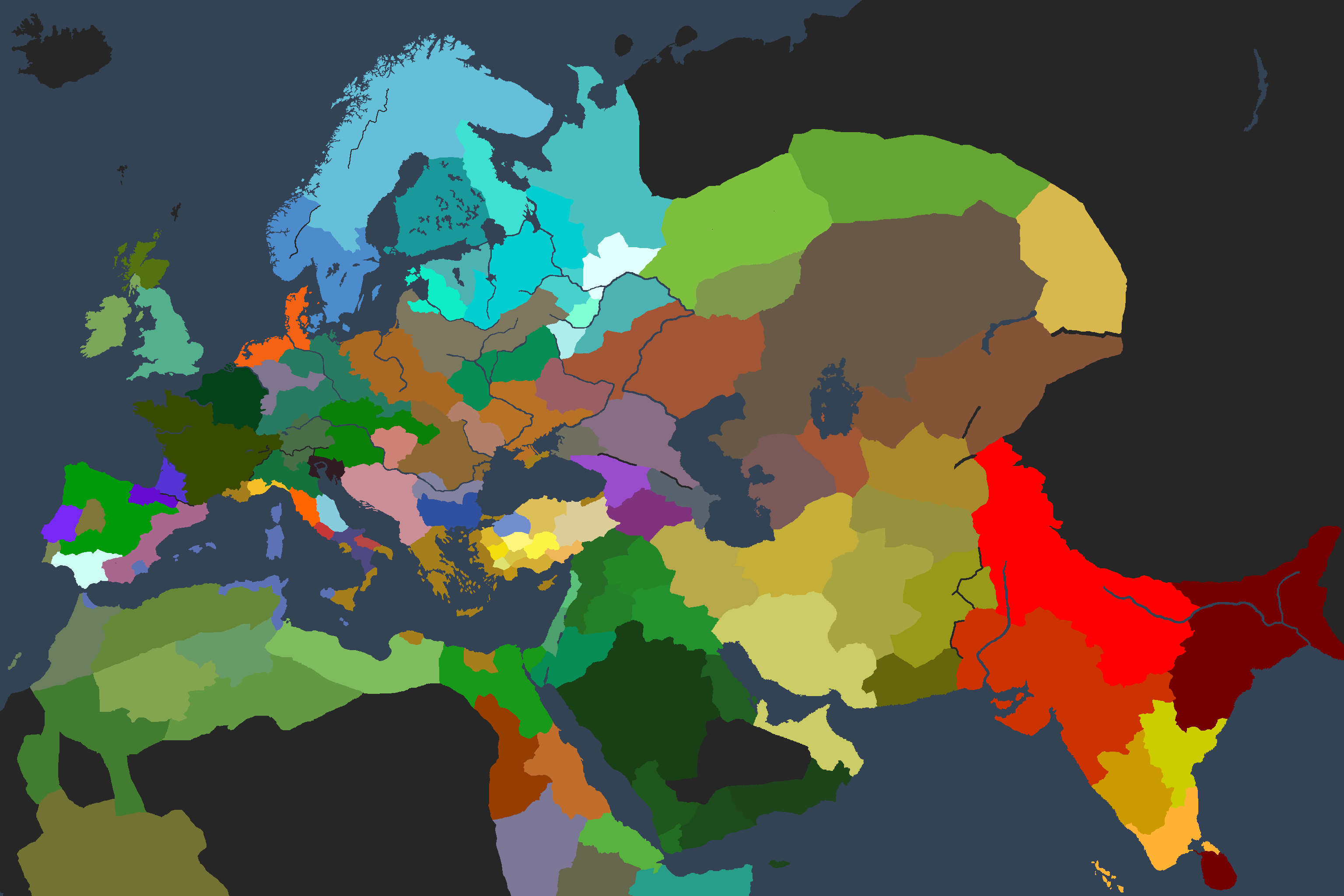 screenshot of the cultural map mode image - Warlords mod for ...