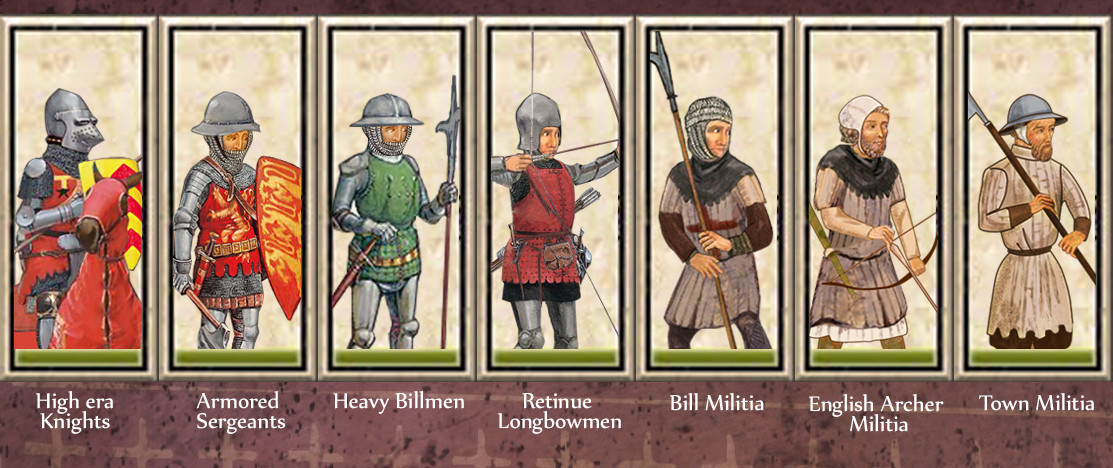 new later english and french unit cards image medieval