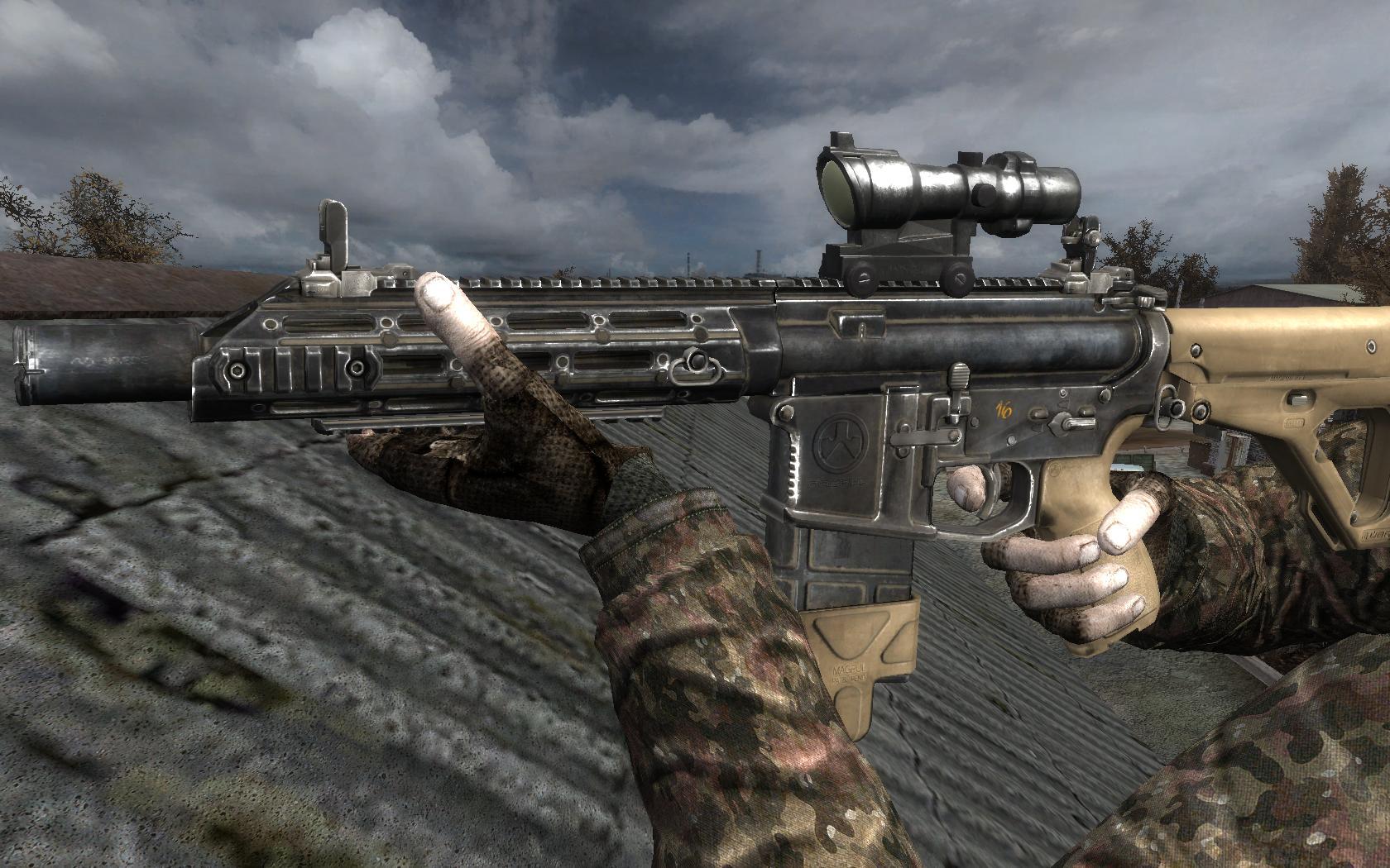 AKS74U low finished image - L.U.R.K. mod for S.T.A.L.K.E.R