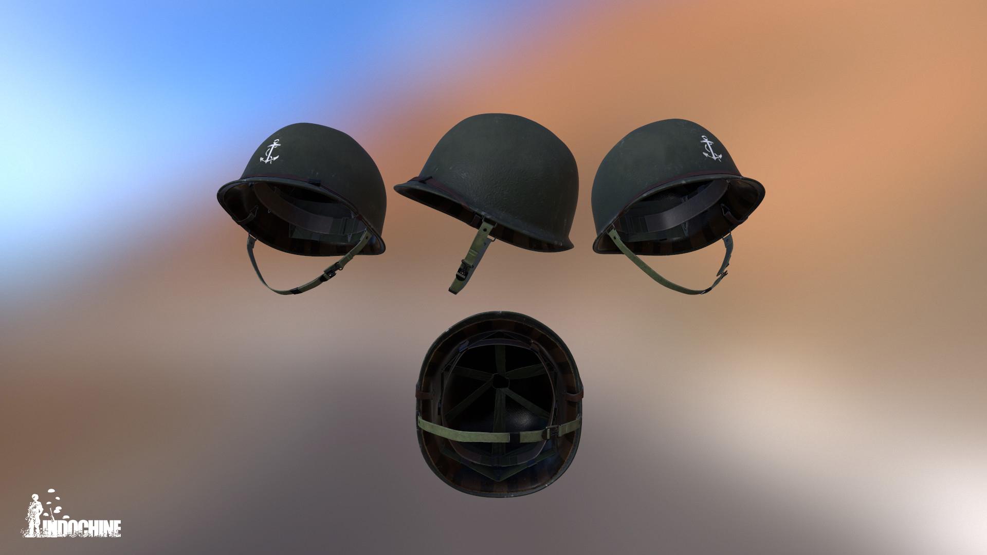 Reconstitution 3D sur l'Indochine Etienne-waldt-us-m1-helmet