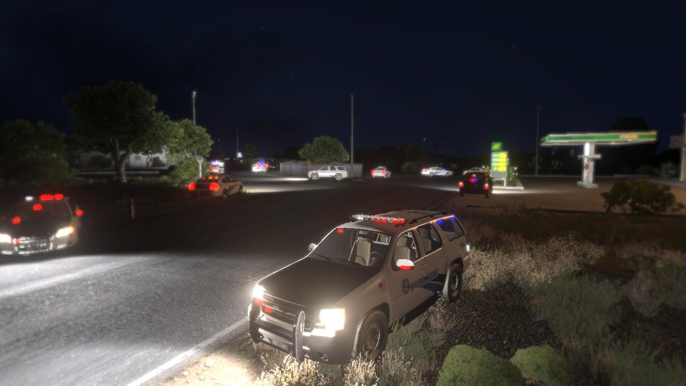 Some Police Cars in action image - ArmA 3 Gang Life mod for