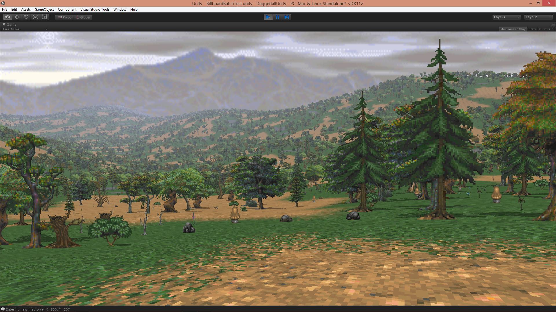 FIxed Tree Alignment image - Daggerfall Unity mod for Elder Scrolls