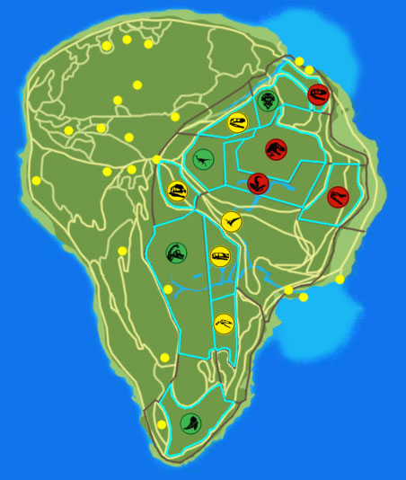 OUTDATED] Isla Nublar map image - Return to Juric Park: A ... on