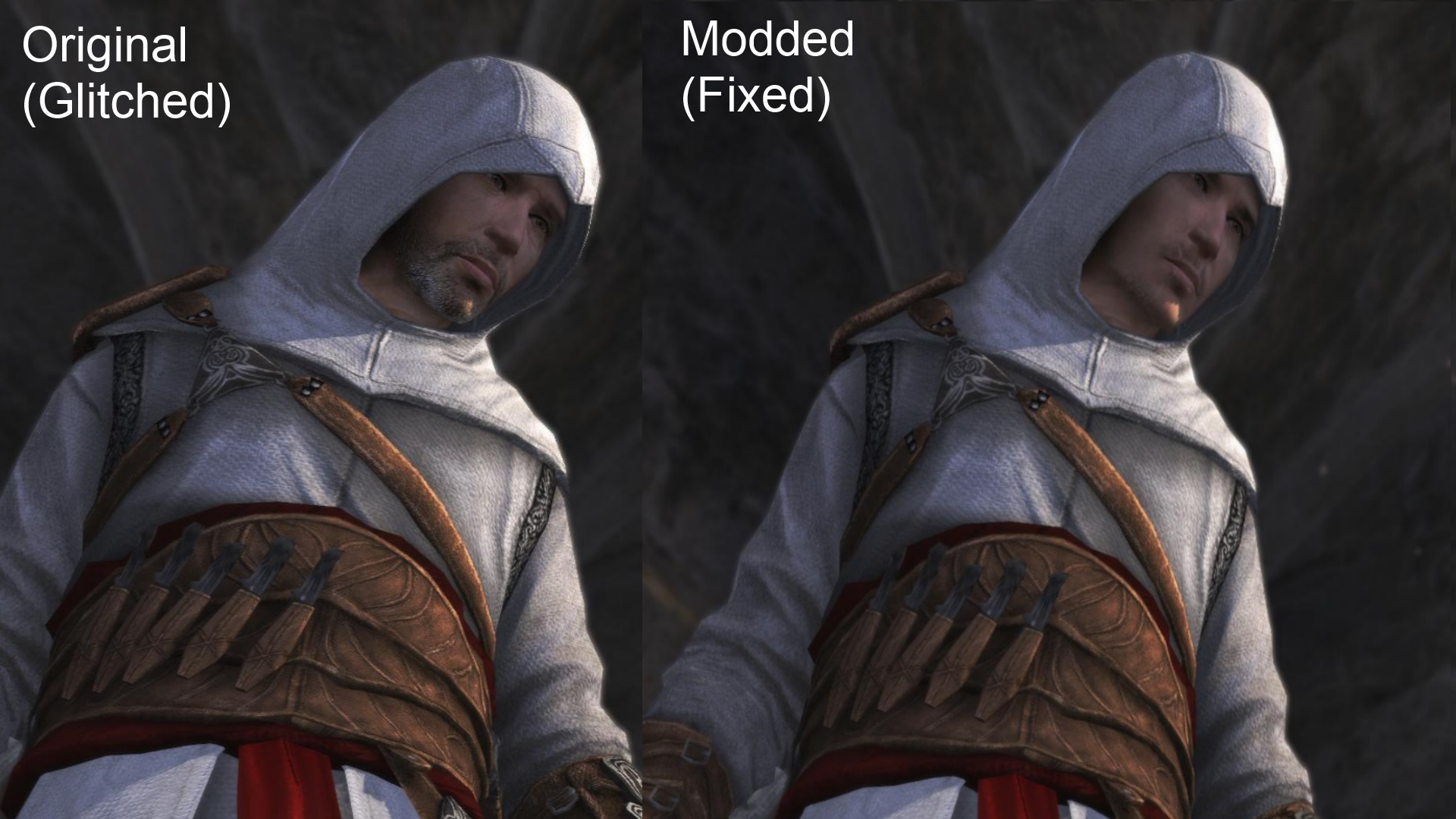 Altair Face Glitch Fixed In Original Memories Image Mod Db