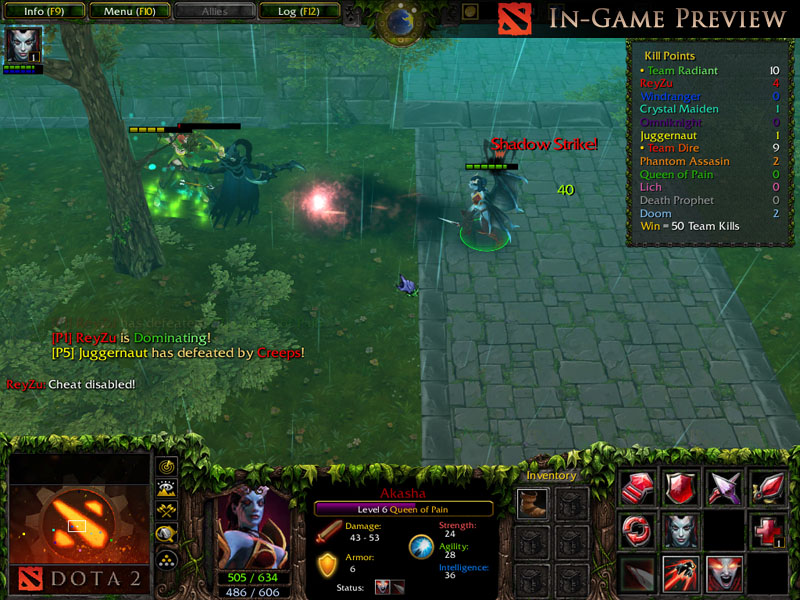 akasha the queen of pain preview image dota 2 heroes clash mod