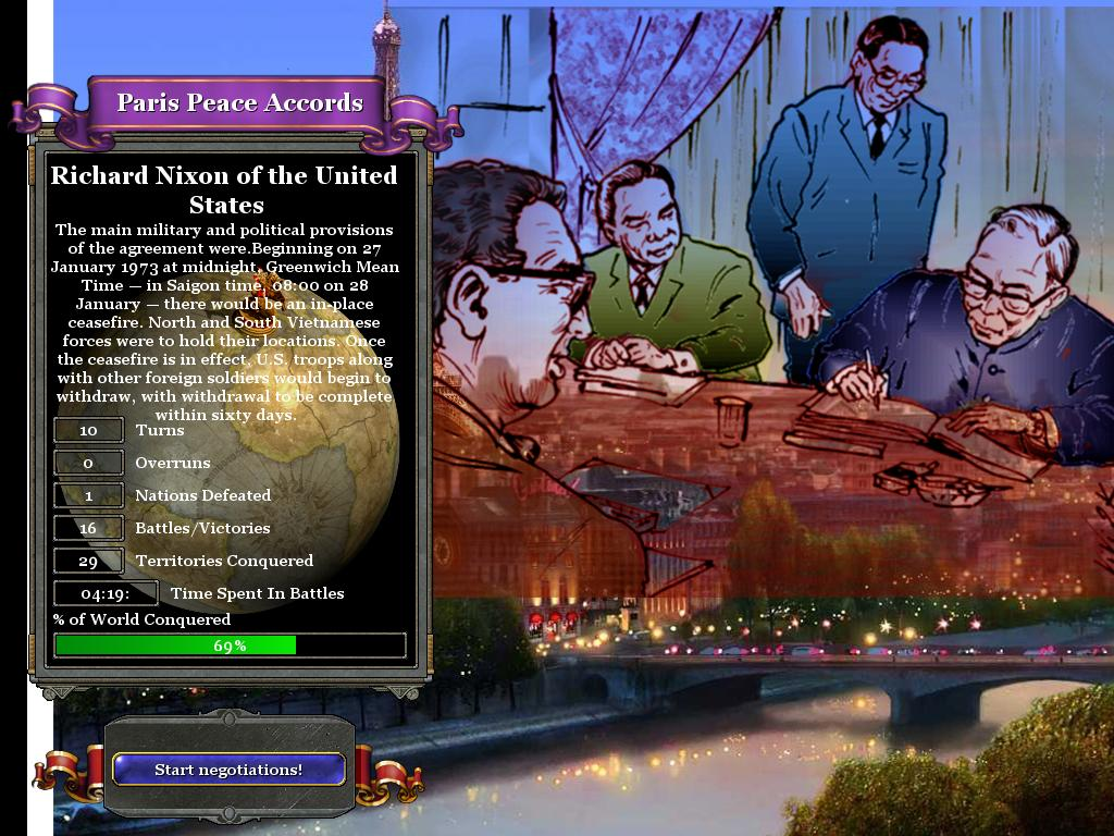 Paris Agreement 1973 Image Vietnam War Mod For Rise Of Nations For