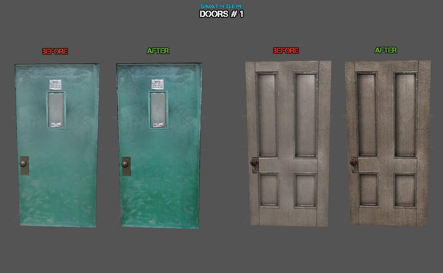 Report RSS Enhanced door textures (1) (view original) & Enhanced door textures (1) image - SWAT 4: Graphical Enrichment ...