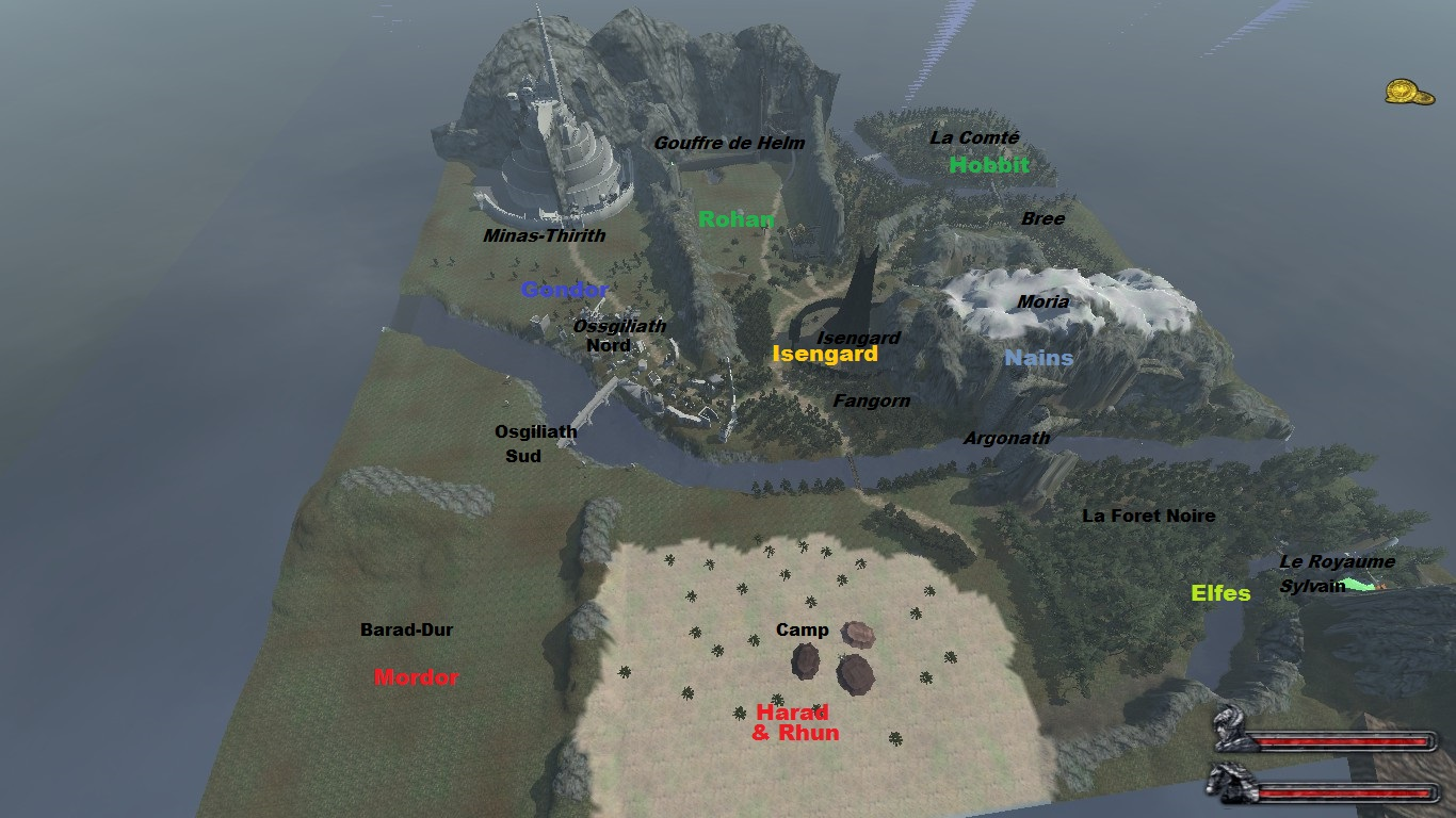 Map image   Persistent Middle Earth mod for Mount & Blade: Warband