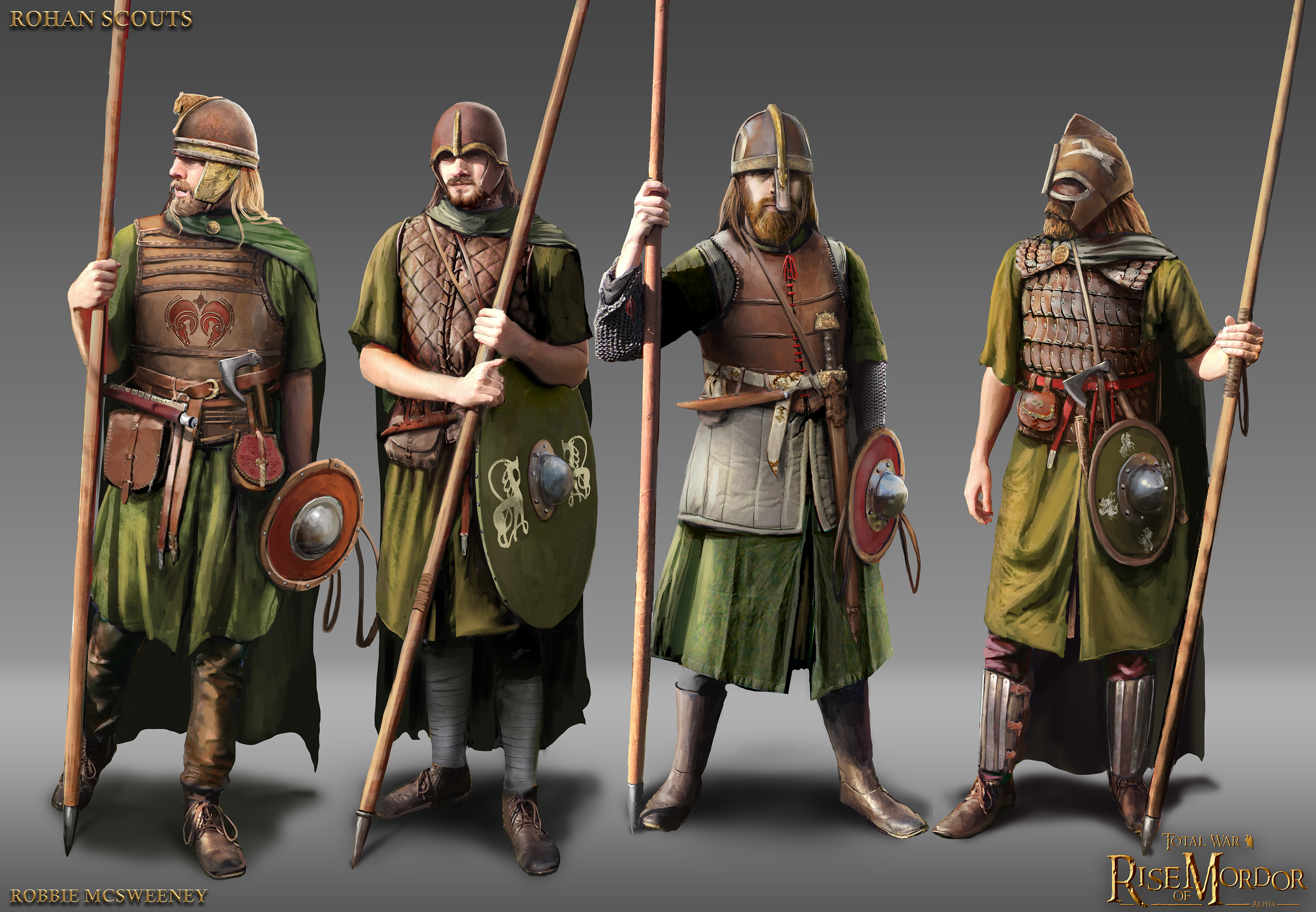 Rohan scouts concept image total war rise of mordor mod for Rohan design