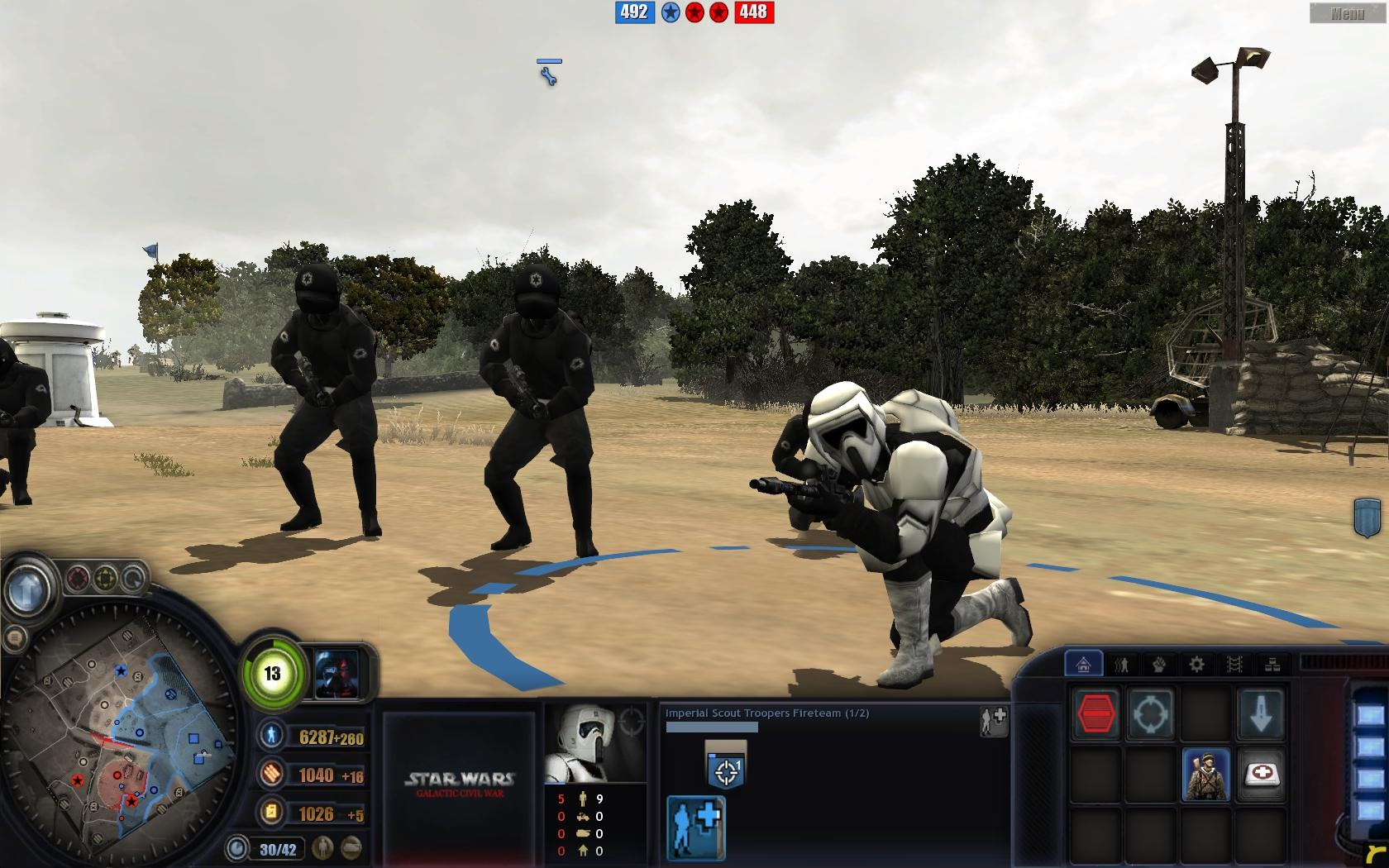 In Game Screenshot Image Starwars Frontlines The Galactic Civil War Mod For Company Of Heroes Opposing Fronts Mod Db