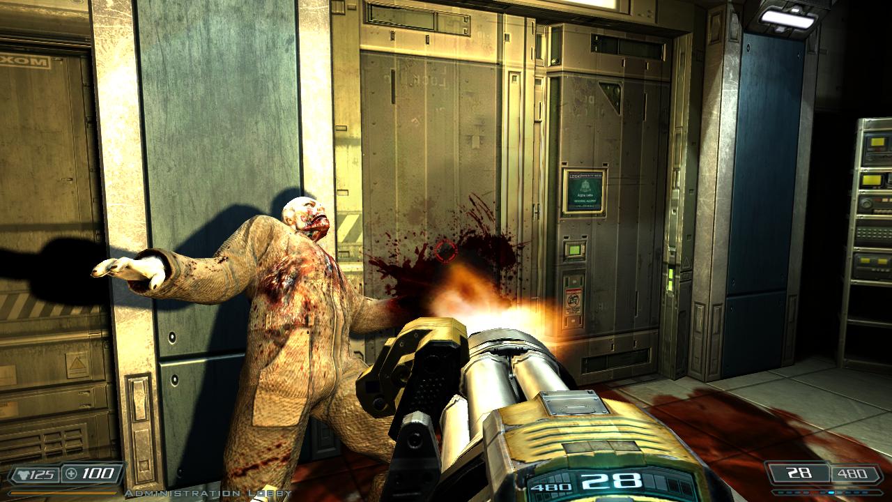Doom 3 BFG Hi Def 2.6b patch - Muzzle flash shadows.