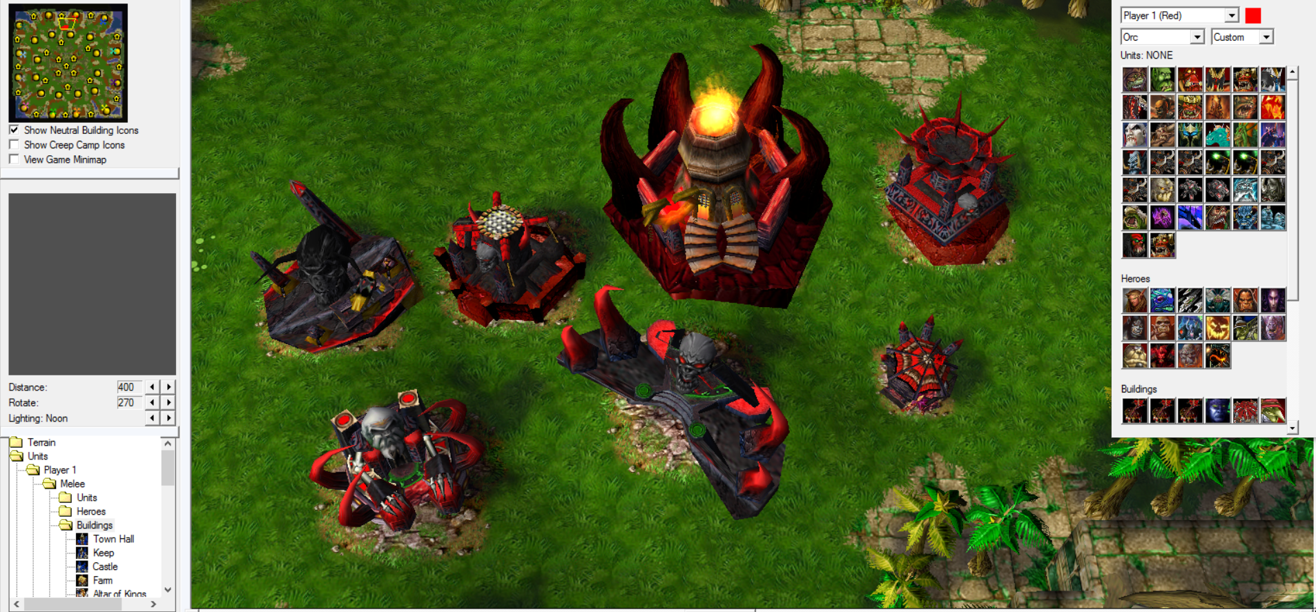 Fel Orc Buildings Image Warcraft 3 Heroes Of The Storm Mod For