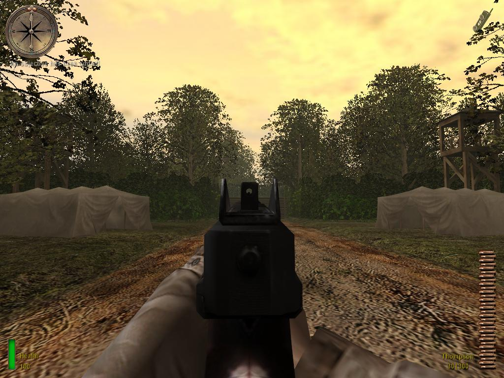 Thompson sights image - MRW: Medal of honor Allied Assault