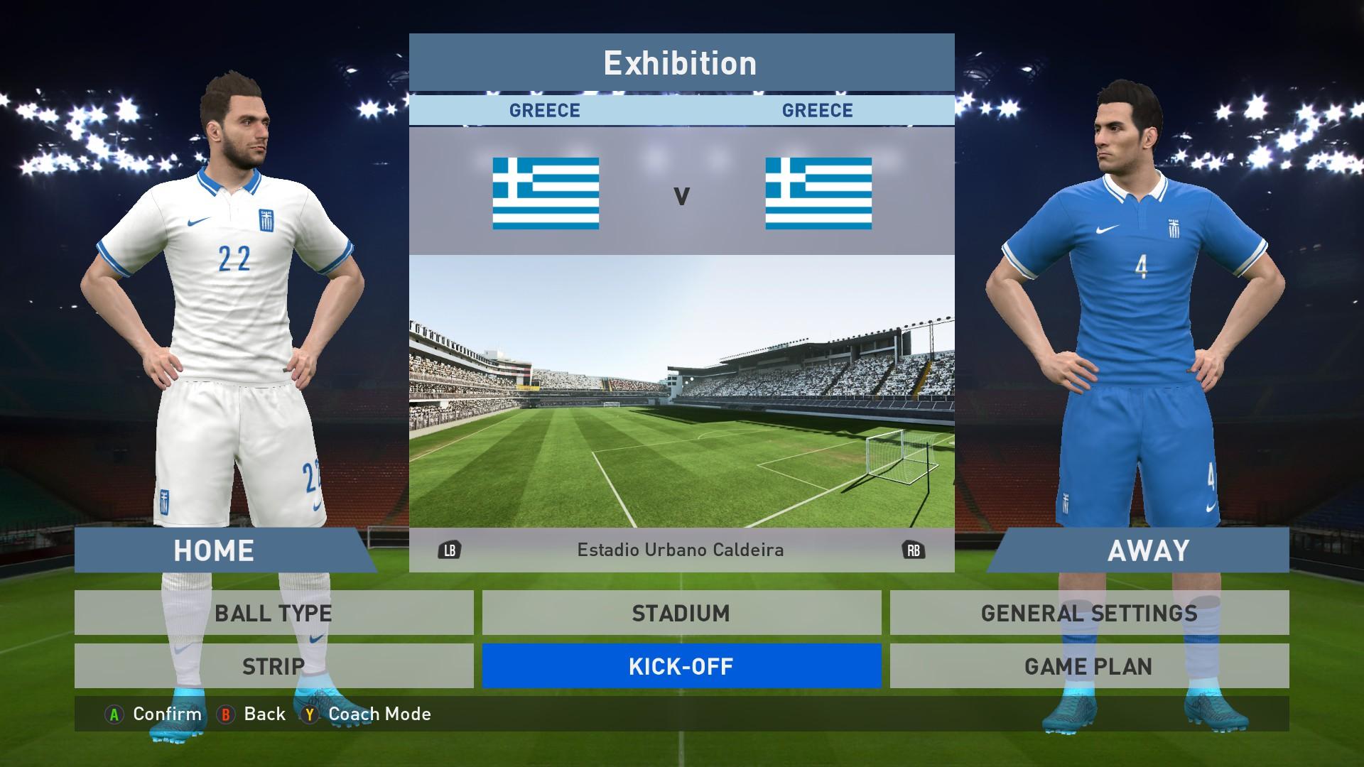 f0a6ec90b23 Greece National team Home Away kits image -  PES-16  Megaforce teams ...