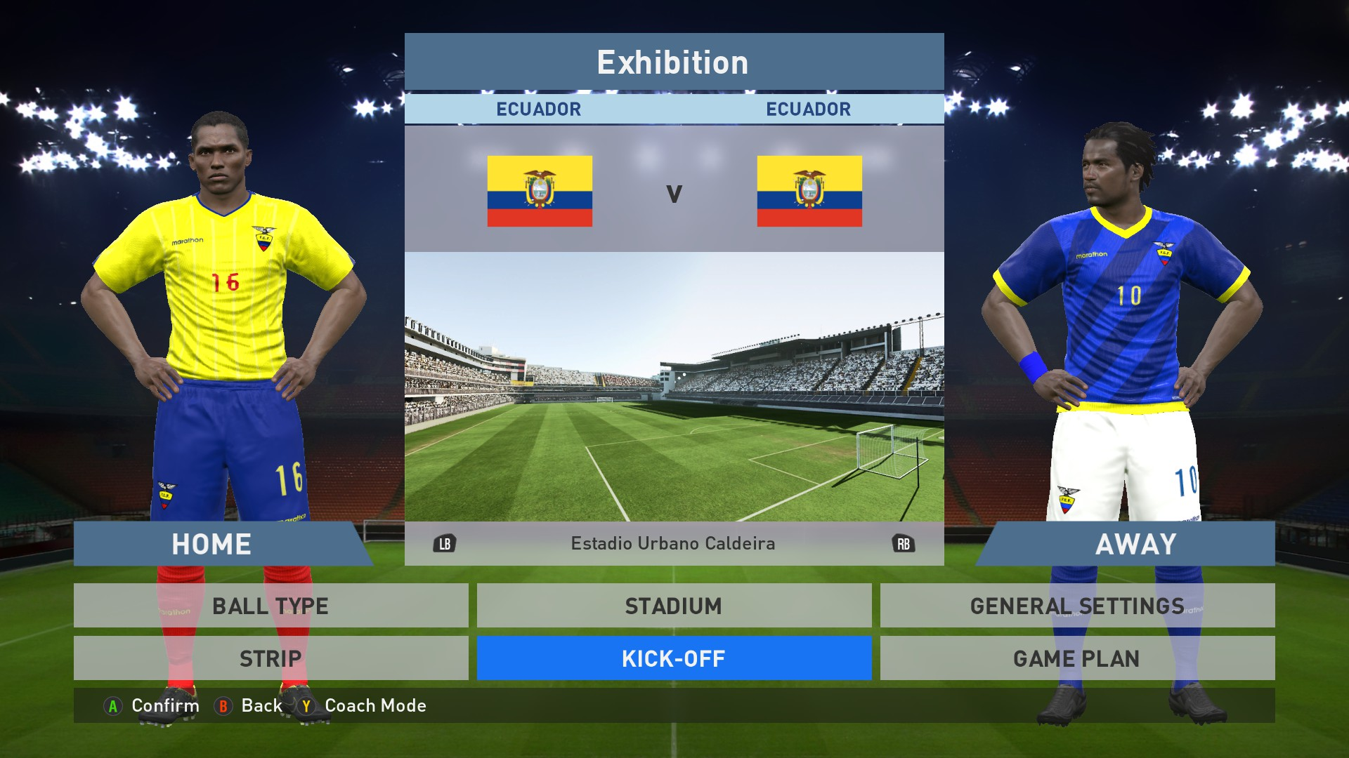 be824db89d6 Add media Report RSS Ecuador national team Home Away kits (view original)