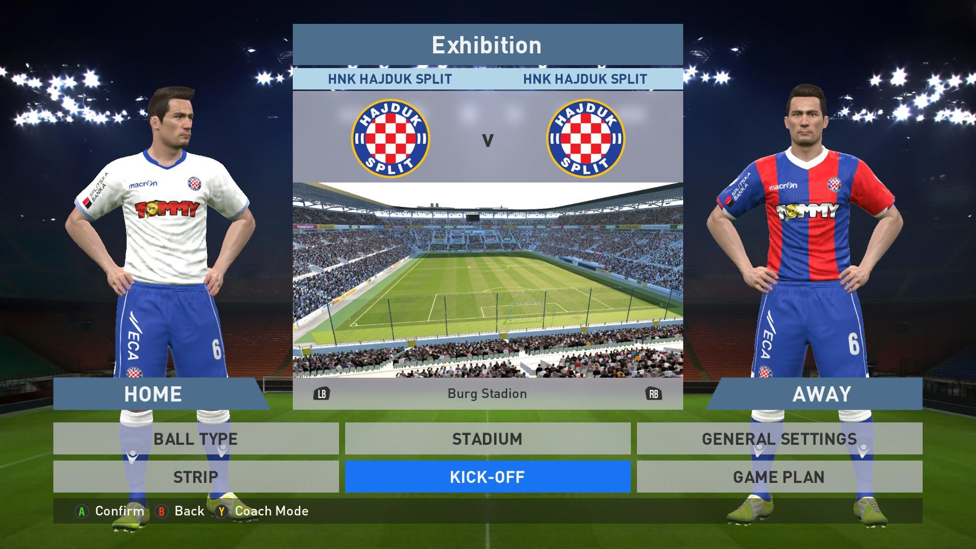 Hajduk Split Home Away Kits Image Pes 16 Megaforce