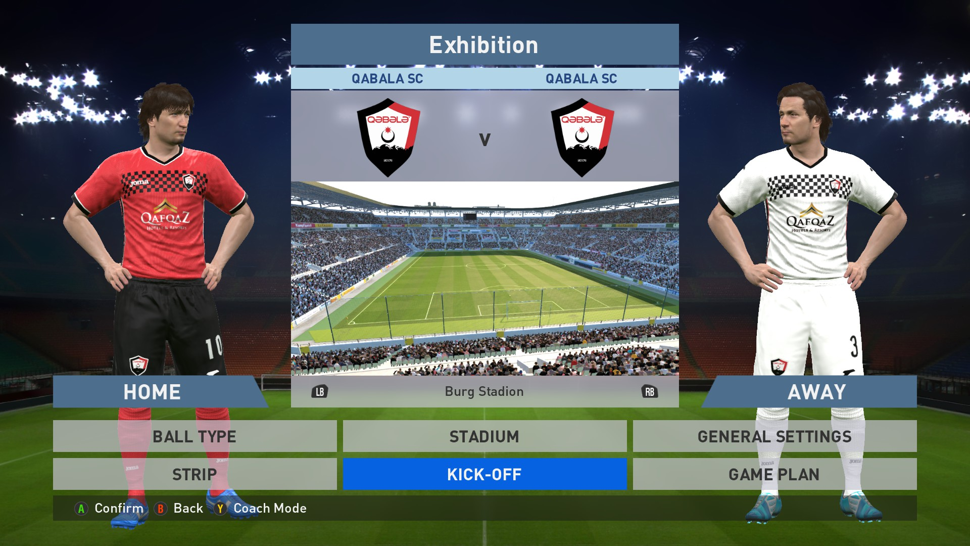1f556ca8ff3 Qabala FC Home Away kits image -  PES-16  Megaforce teams Add-On mod ...