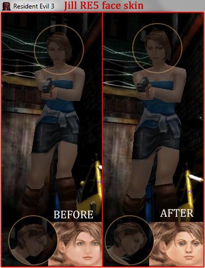 Jill RE5 face skin for RE3 - Resident Evil 1 2 3 - Modding Forum