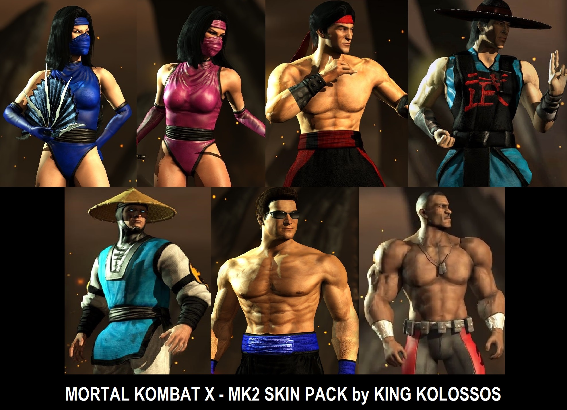 MKX - [ MK2 Skin Pack ] by King Kolossos mod for Mortal