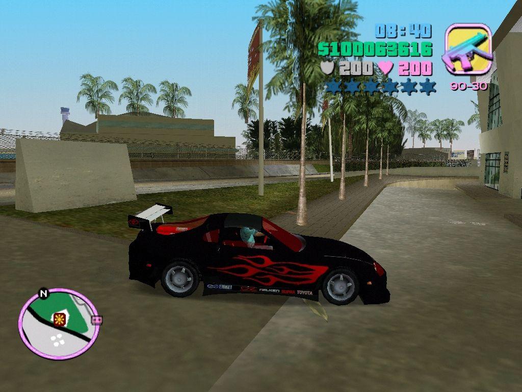 Toyota Black Supra image - Ultimate Vice City 2 0 mod for Grand