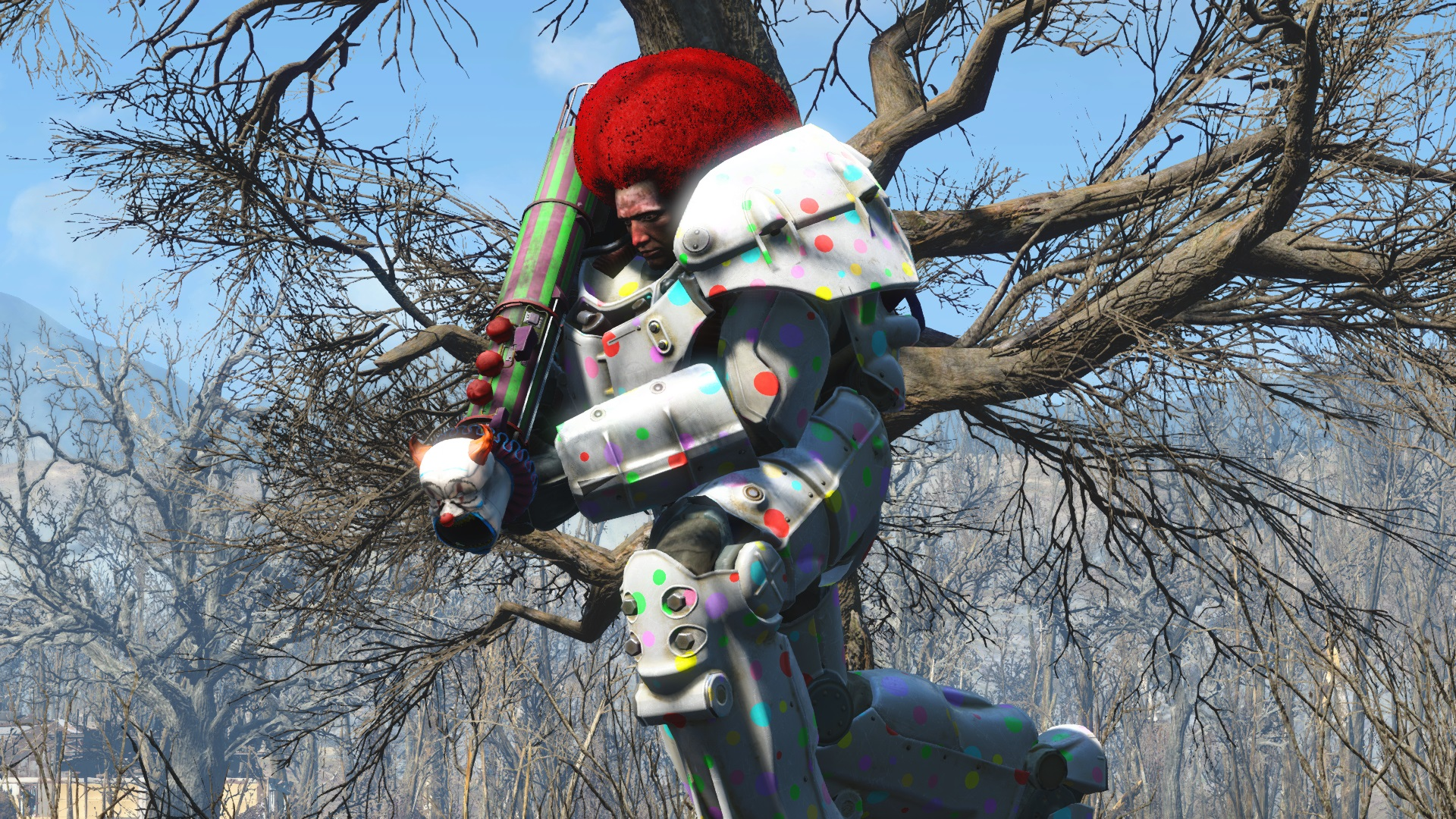 Clown Power Armor image - Maxwell's World mod for Fallout 4