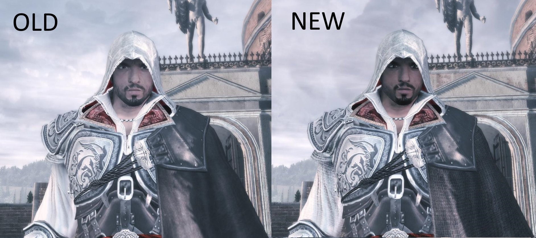 older ezio updated face comparison image assassin s creed 2