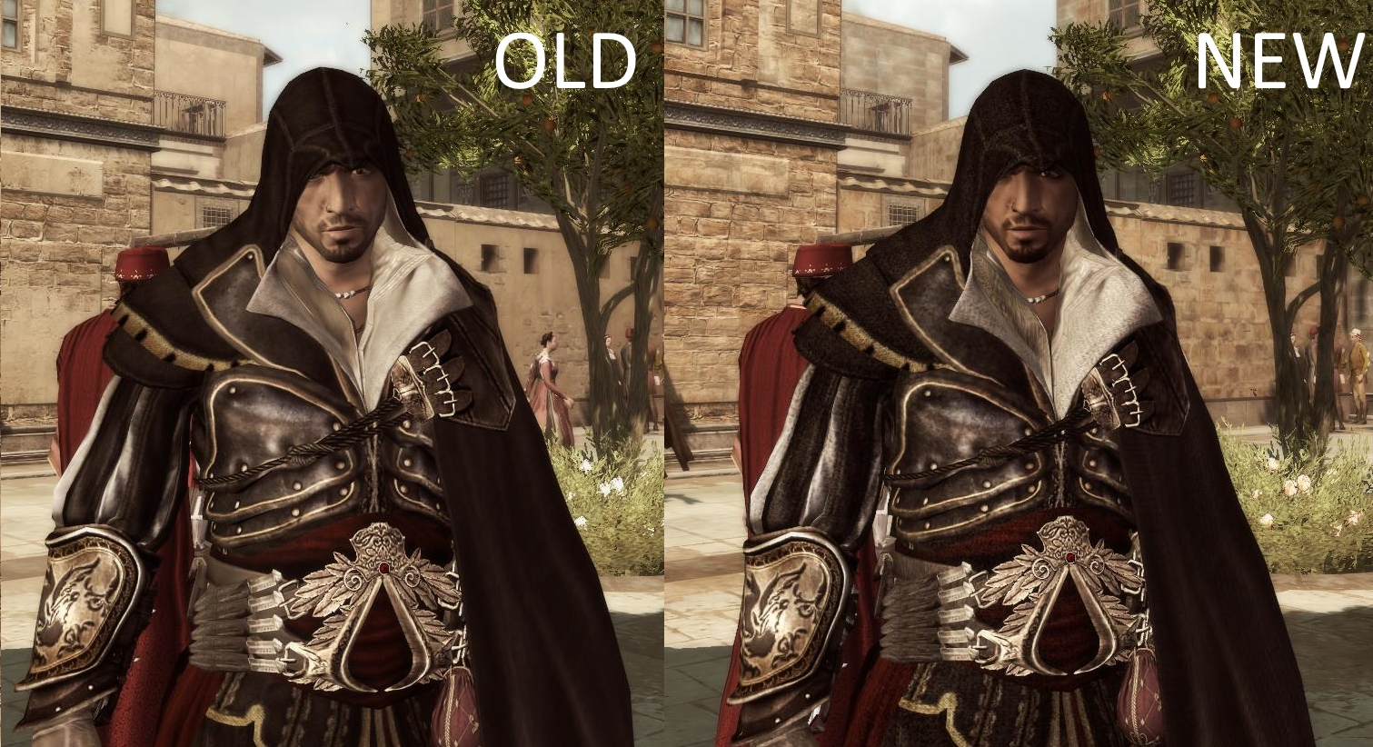 Ezio In Altair Armor Comparison Image Assassin S Creed 2