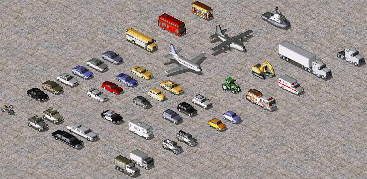 Civilian vehicles that decorate maps.