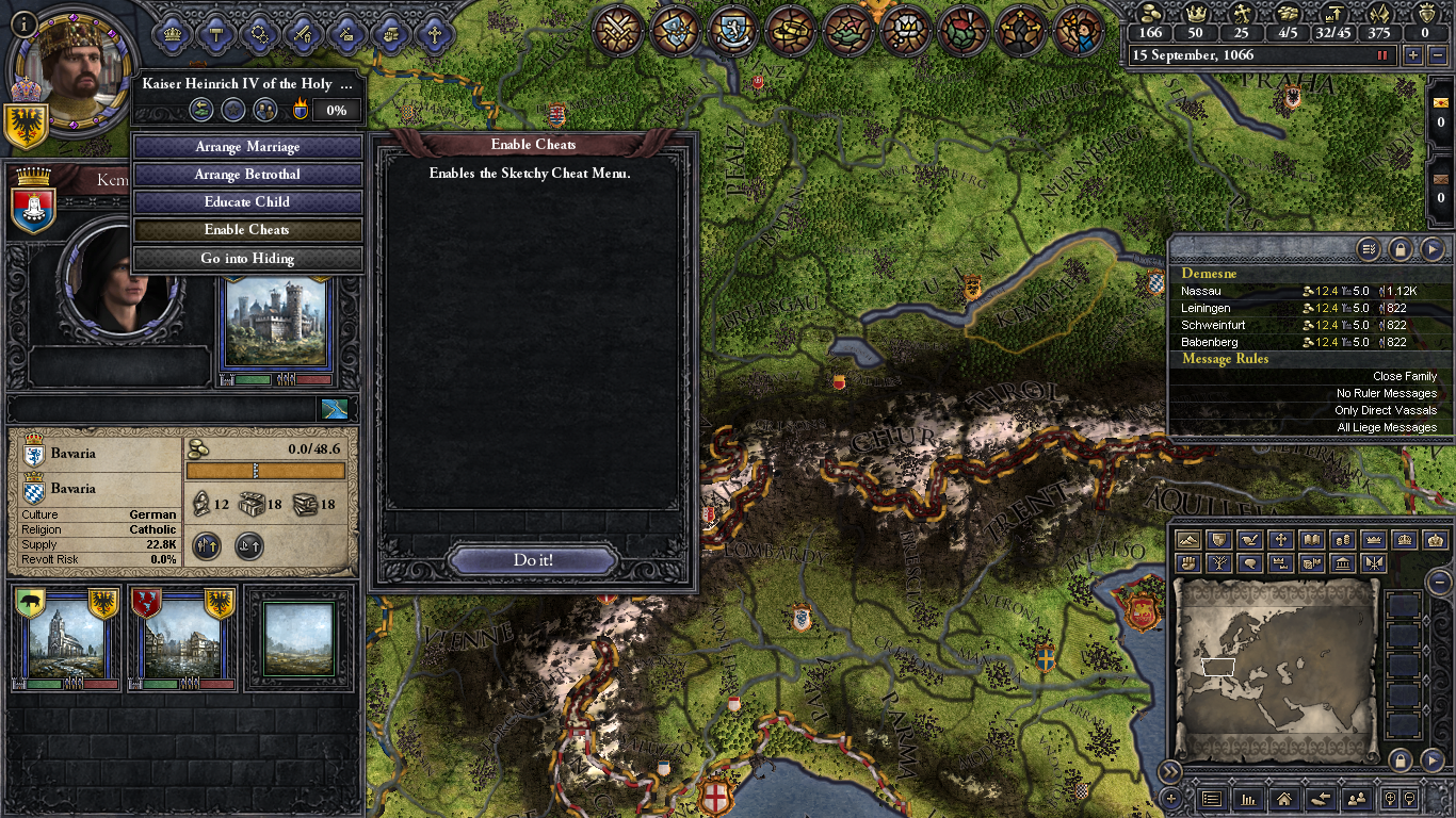 Image 1 - Sketchy Cheat Menu mod for Crusader Kings II - Mod DB