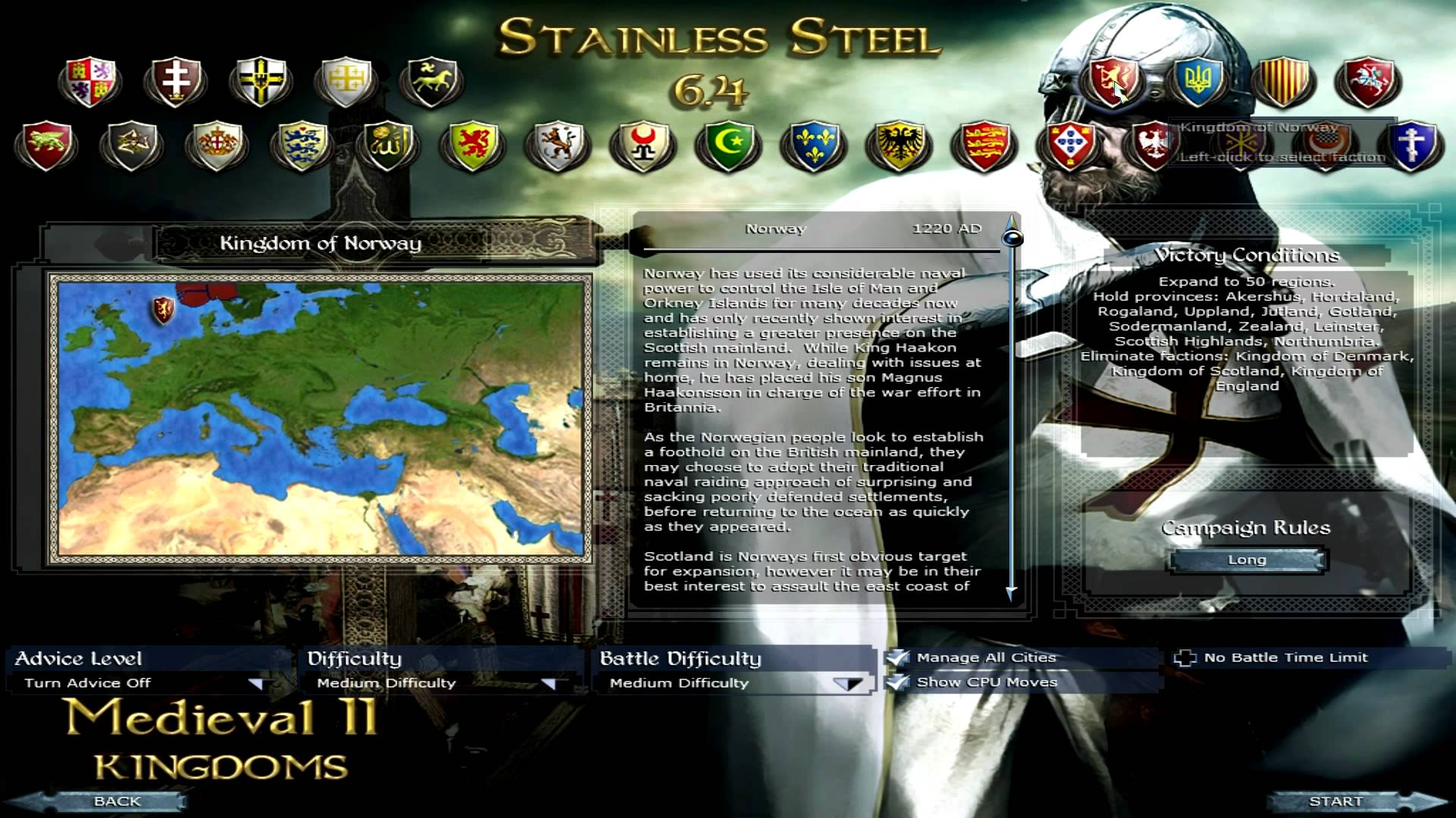 Stainless Steel mod for Medieval II: Total War: Kingdoms