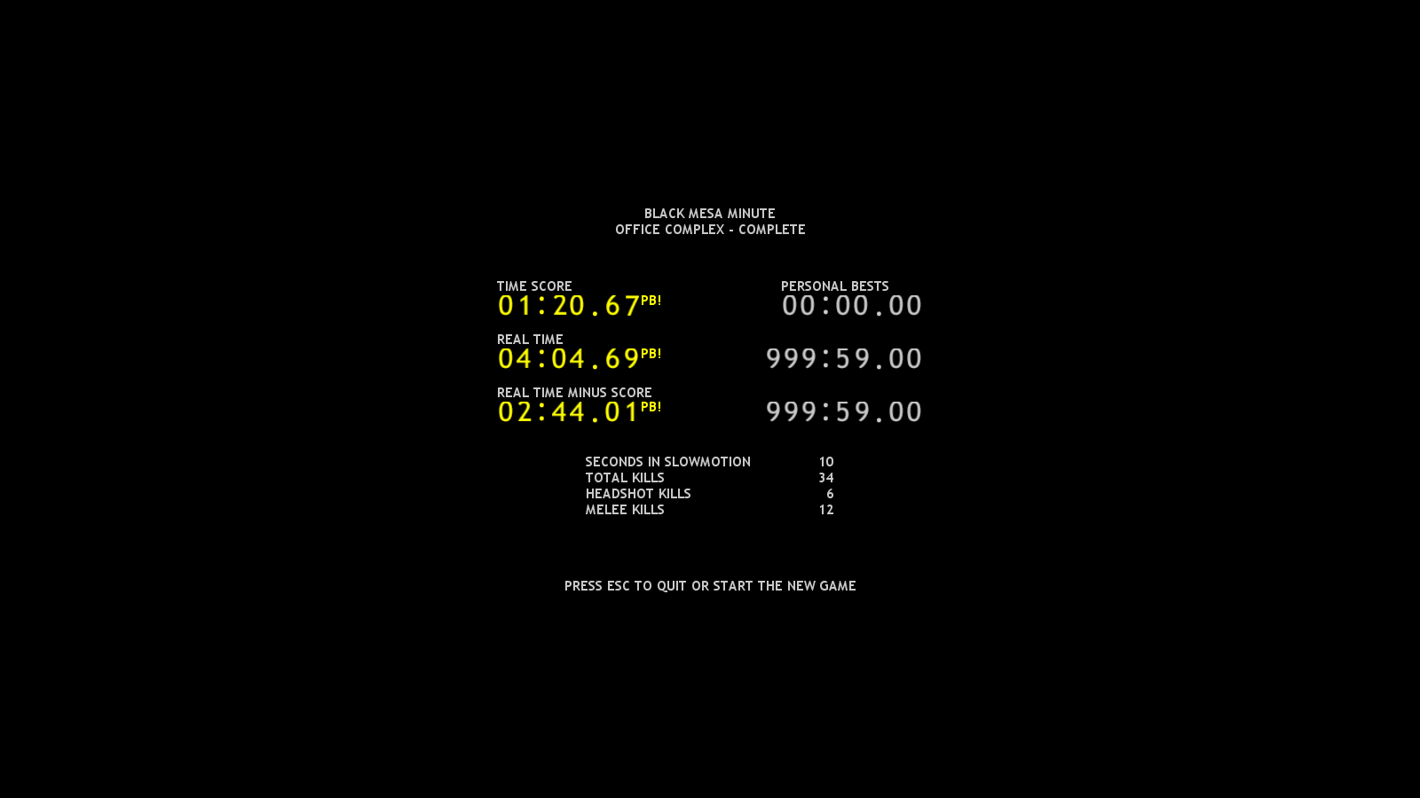Black Mesa Minute results screen image - Half-Payne (now with Twitch