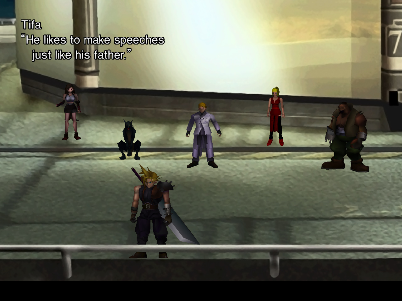 Final Fantasy VII Play as the Shinra Project