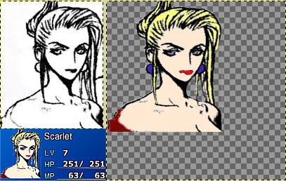 New Scarlet Avatar Based On The Original Ff7 Artwork By Tetsuya