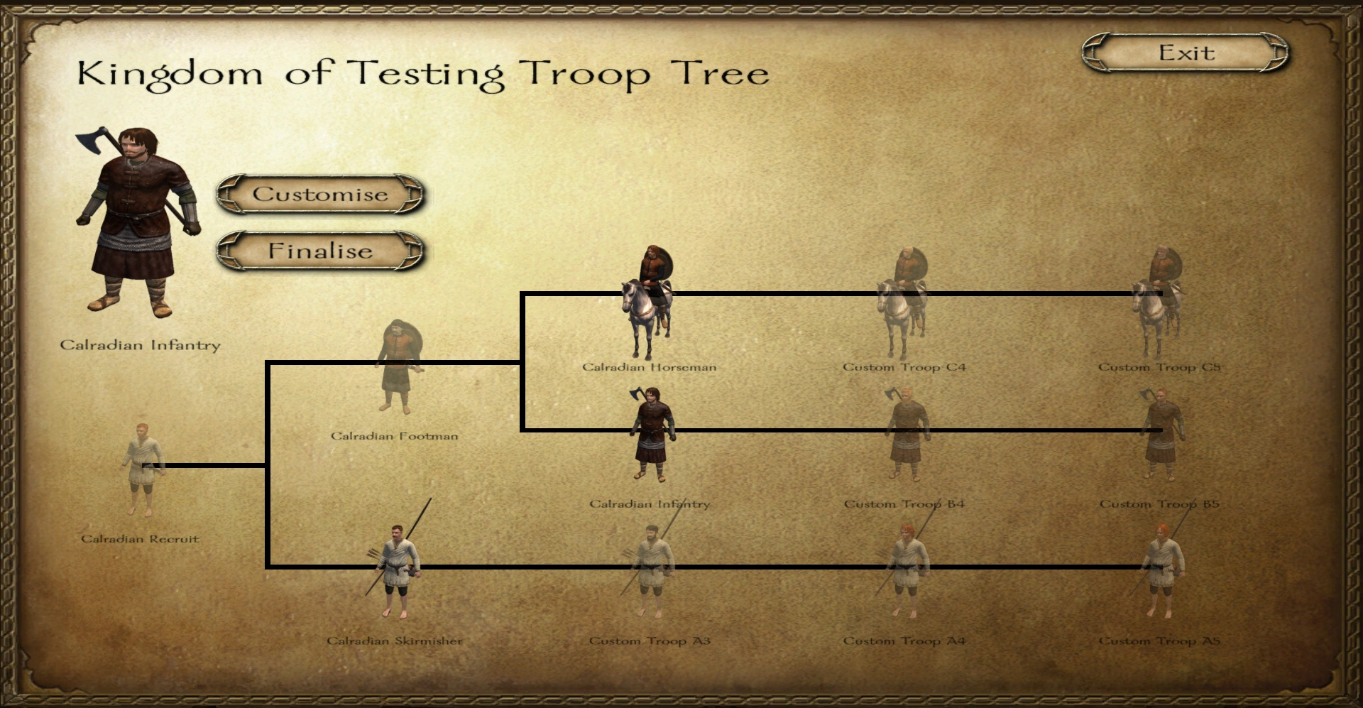 [SP][EN] Custom Troop Trees Mb90