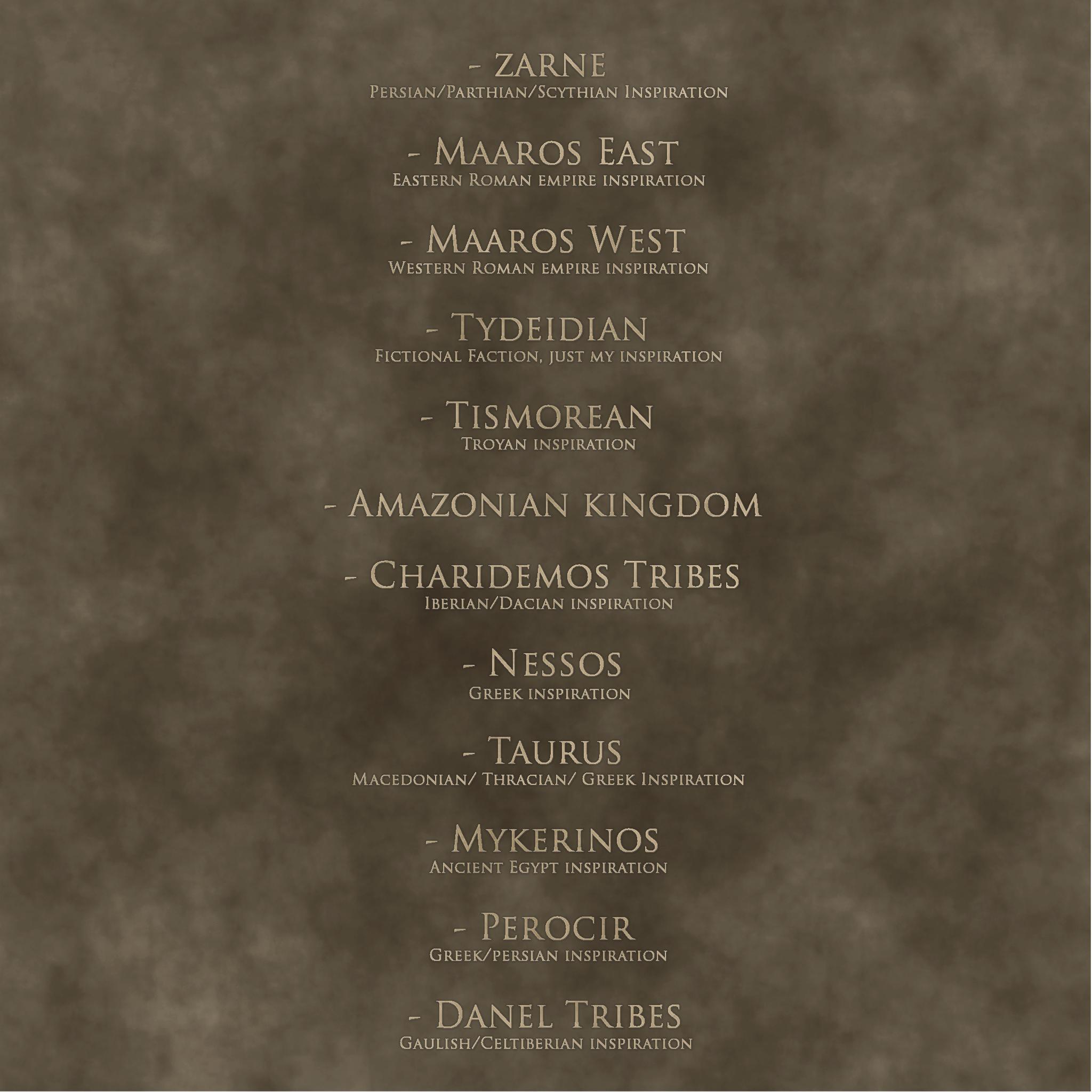 [SP][EN] Ancient time : Hegemony of Heroes Factions