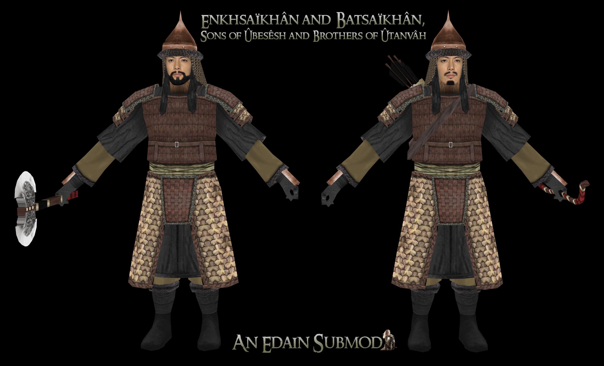 Enkhsaïkhân and Batsaïkhân, Twins of Ûbesêsh and Brothers of Ûtanvâh