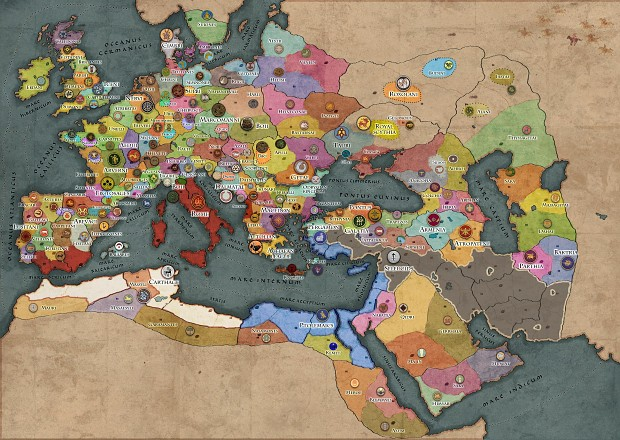 Grand Campaign Map image - Ancient Empires: Attila Total War mod for