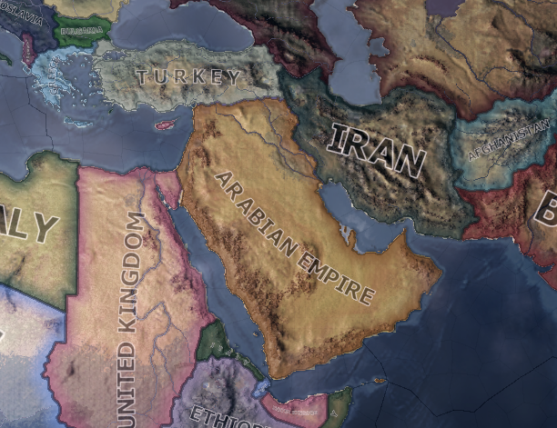 the arabian empire mod for hearts of iron iv