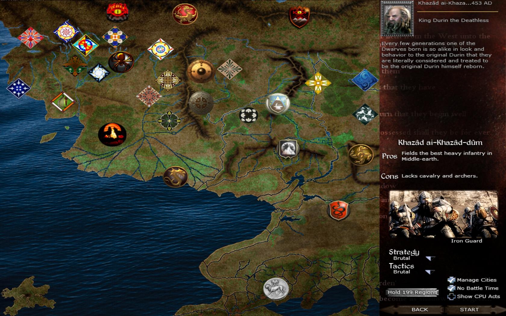 Interactive Menu Map Image Dagor Silmarillion First Age