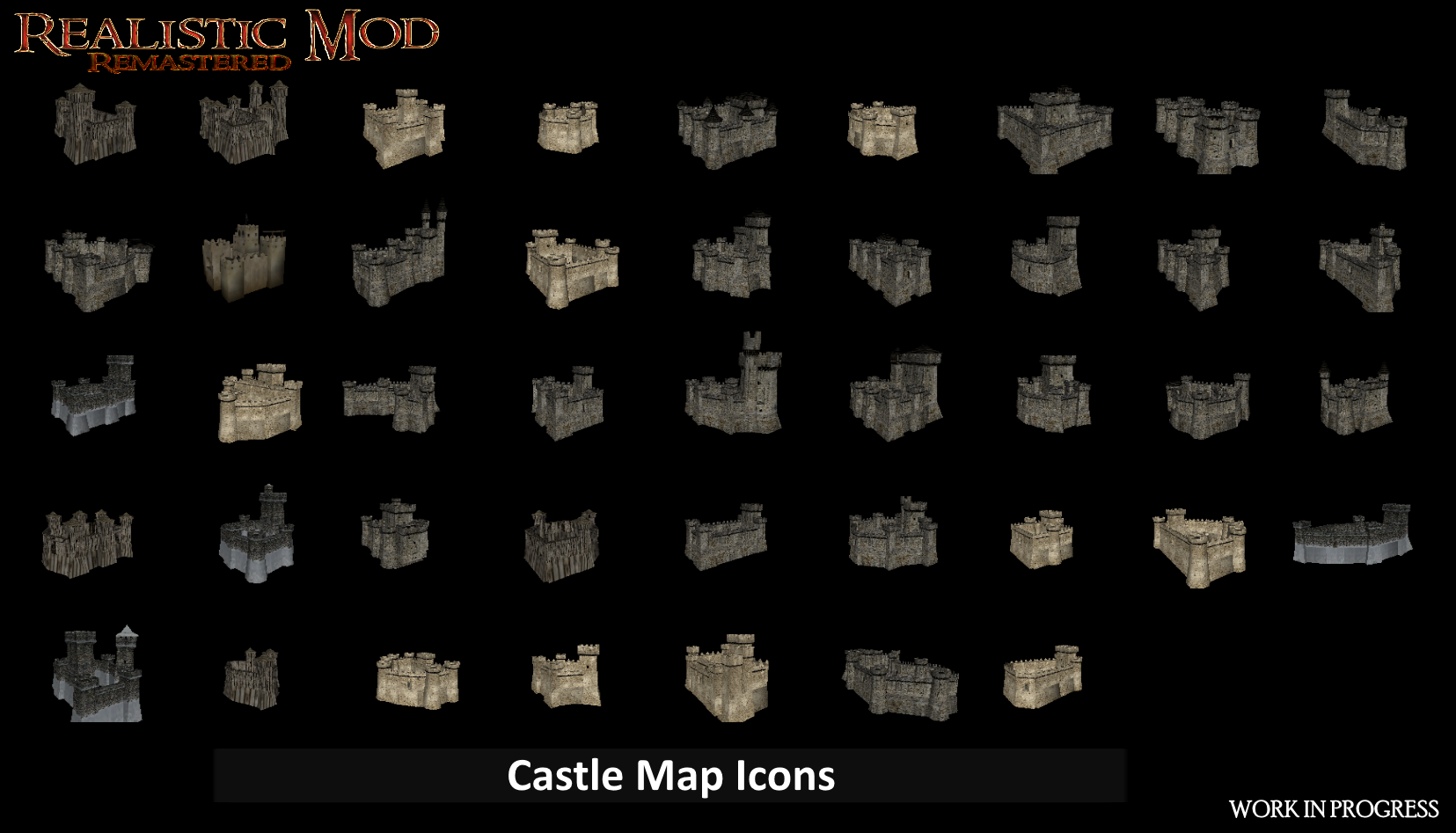 Castle Map Icons Hd Image Realistic Mod Remastered For Mount