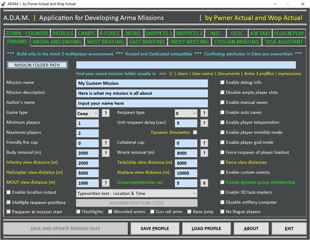 ADAM - ArmA 3 Mission Builder mod - Mod DB