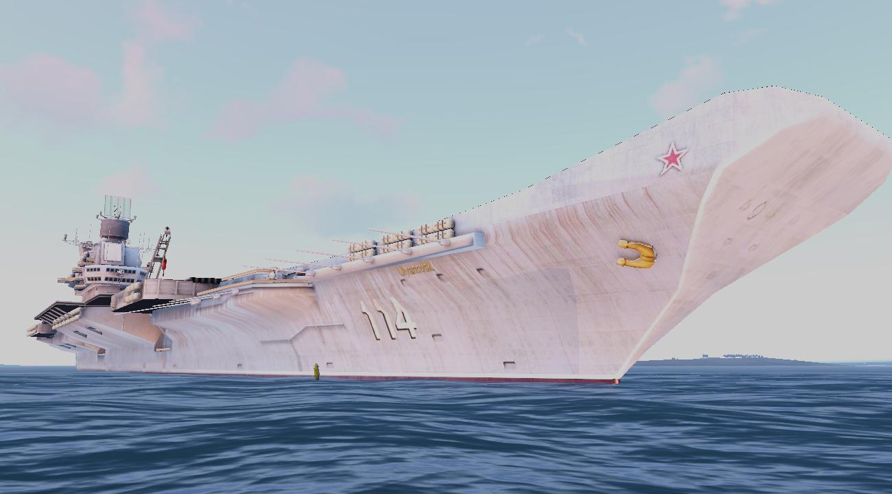 Aircraft carrier Ulyanovsk mod for ARMA
