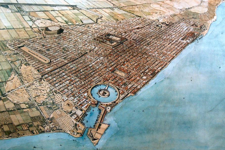 HISTOIRE ABRÉGÉE DE L'ÉGLISE - PAR M. LHOMOND – France - année 1818 (avec images et cartes) Carthage01