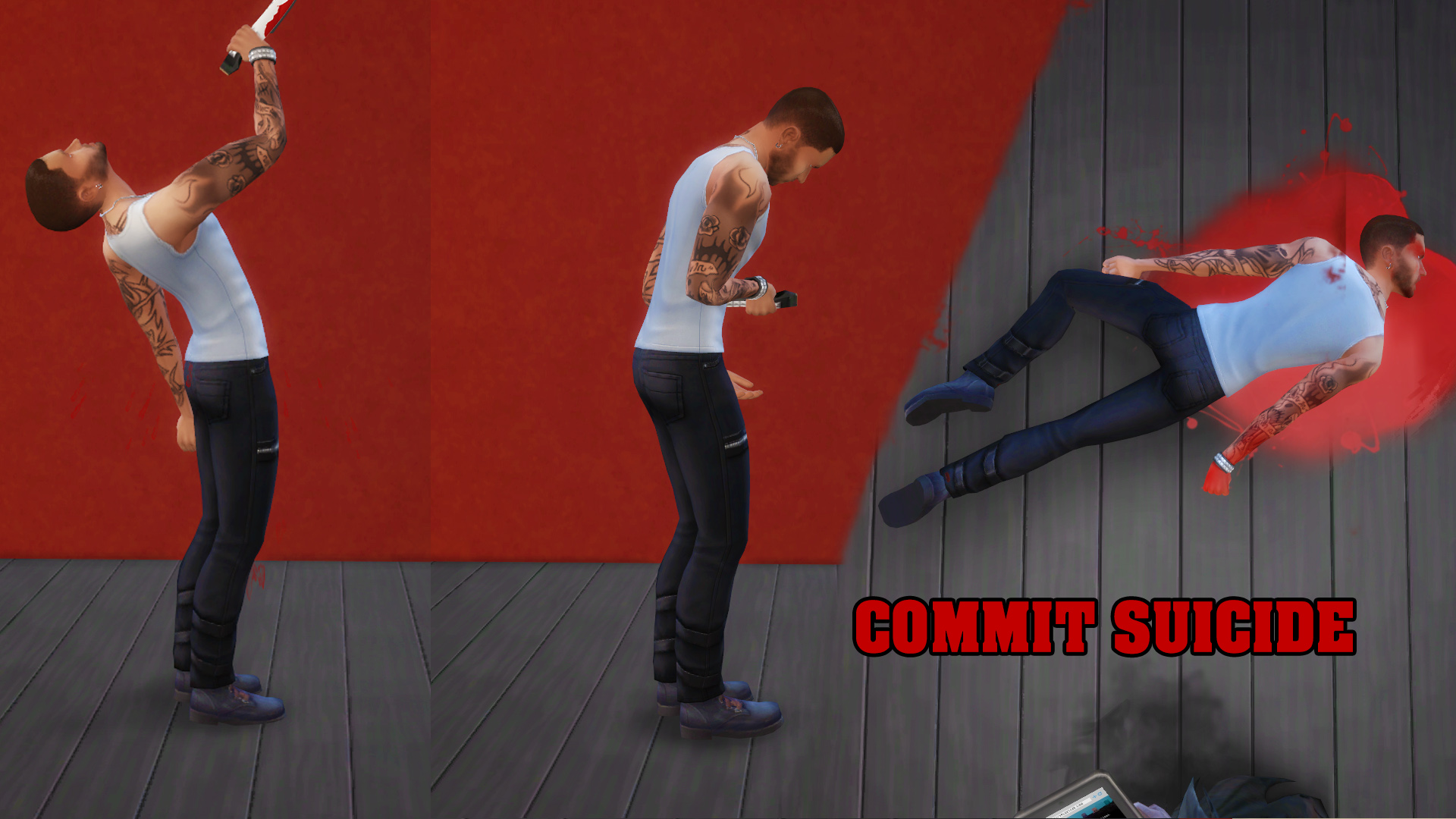 Commit Suicide image - Extreme Violence mod for The Sims 4