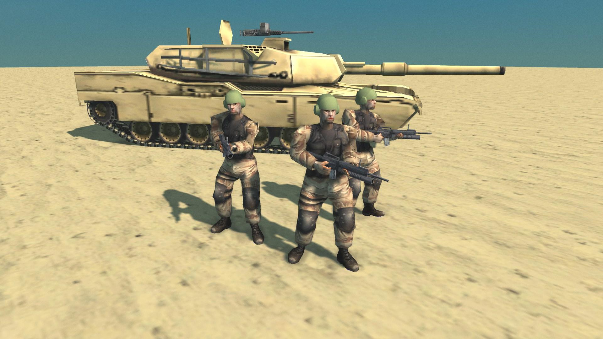 USA tankmen image - Conflict: Desert Storm II Remastered mod