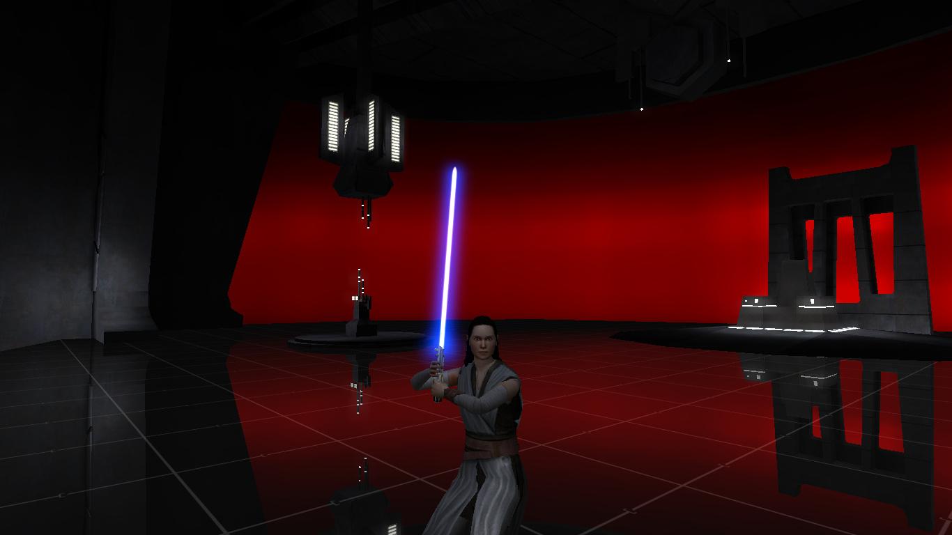 Rey In Snoke S Throne Room Image Star Wars Movie Duels Mod For Star Wars Jedi Academy Mod Db