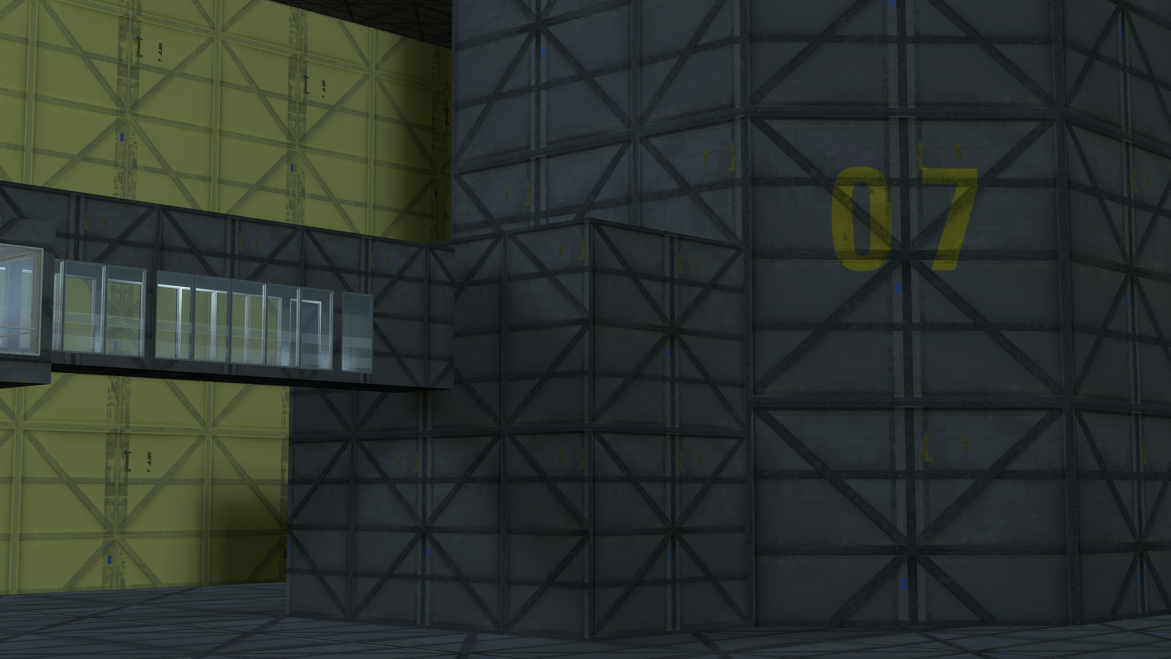 Early Alpha Glados Chamber Exterior Image Recreating