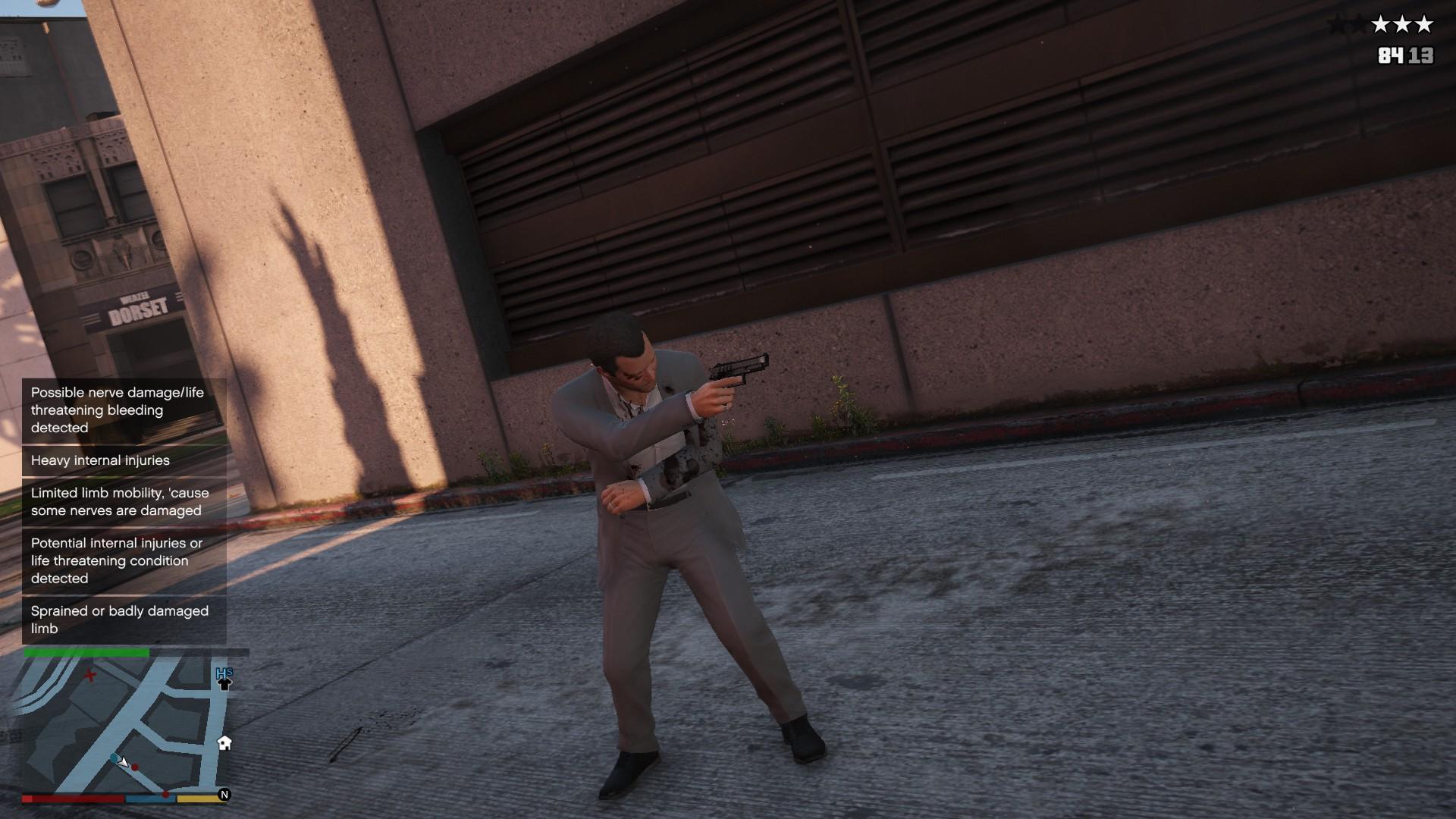 GSW] GunShot Wound mod for Grand Theft Auto V - Mod DB