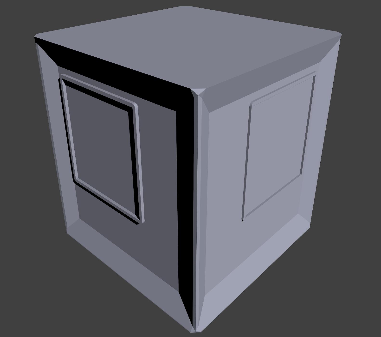 The Cube - 3D model (Blender)