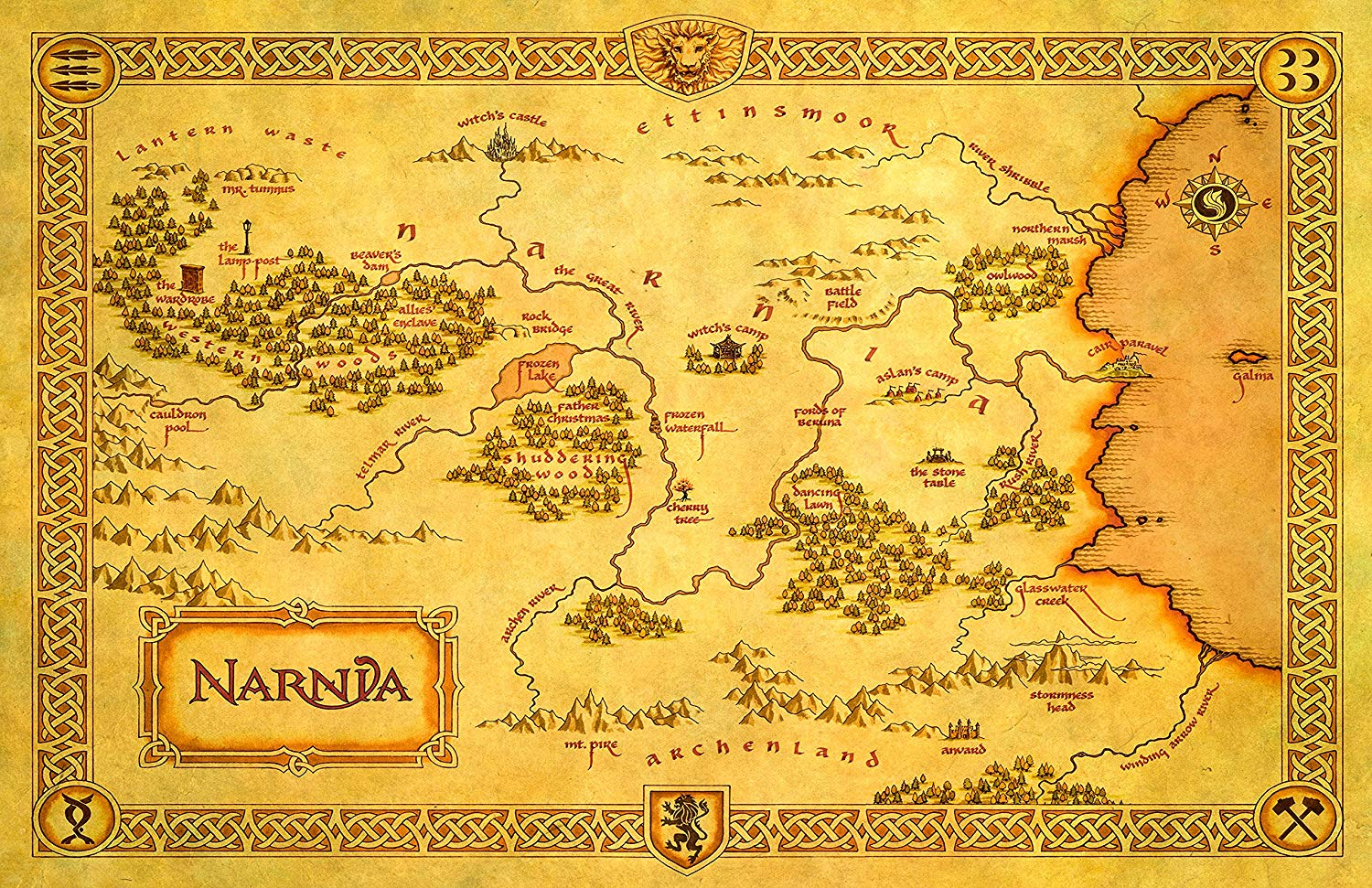 Map Of Narnia Narnia Map 3 image   Mod DB